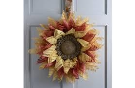 burlap sunflower wreath sunflower mesh wreath a c