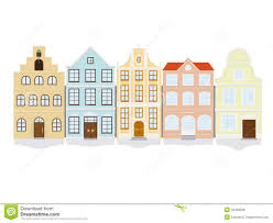 House Design Free No Download Historic Town House Icon Set Stock Vector Image 43426228