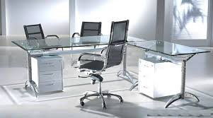 Office Furniture Glass Desk Large Glass Desk Office Interque Co