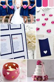 what color matches with pink and blue navy blue and hot pink wedding scheme 2014 hot pink weddings hot
