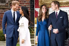 diana engagement ring compare meghan markle and kate middleton s engagement