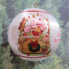 warm wishes for a cozy strawberry shortcake ornament