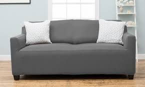 Stretch Slipcover For Couch 60 Off On Form Fitting Stretch Slipcover Groupon Goods