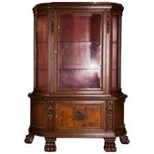 italian renaissance revival antique secretary desk with bookcase