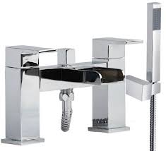 desire 4 open u waterfall spout bath mixer taps u0026 shower 180mm