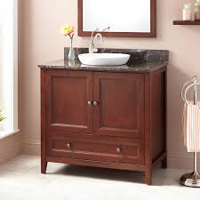 georgetown kitchen cabinets cherry finish freestanding vanity signaturehardwarecom bathroom