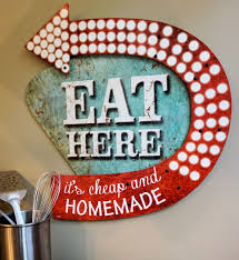 eat here it u0027s cheap and homemade funny vintage style sign made