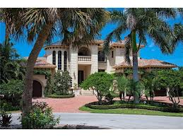 Florida Mediterranean Style Homes - single family homes at aqualane shores real estate naples florida