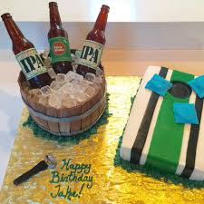 beer cake beer bottle birthday cake bottles labels u0026 ice cubes made