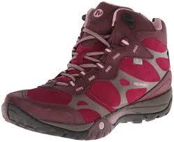 womens boots burning merrell s azura carex mid waterproof hiking boot wine 10 m