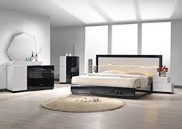 black lacquer bedroom set amazon com j m furniture turin black white lacquer queen size