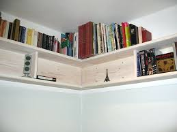 bookcase corner floating wall bookshelves with wooden l letter