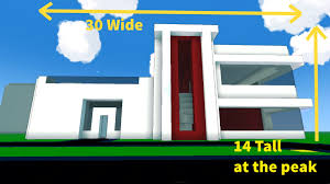 trove modern house dimensions youtube