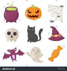 set halloween icons vector illustration ghost stock vector