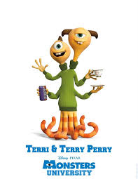 monsters university character poster terri terry perry