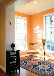 sunroom with runner and orange warm paint colors warm paint