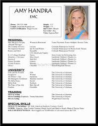acting resume exle exle acting resume resume for study