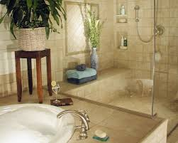 beige and brown bathroom tiles white soaking bathtubs shower with