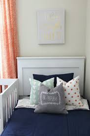 adventure themed shared boys room project nursery navy blue and orange shared boys room