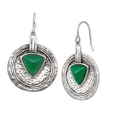 emerald drop silpada emerald isle sterling silver and agate drop earrings