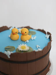 duck cake ducks in a pond cake i like the pads and flowers rhun s