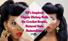 black american hairstyles braided 1950s hair tutorial 60 s classic victory rolls on crochet braids