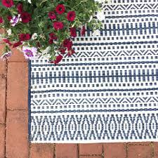 Outdoor Rugs For Deck by Outdoor Rug Pattern Stripe Blue Threshold Target