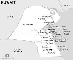 kuwait on a map kuwait political map black and white black and white political