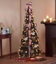 artificial christmas pre lighted trees ebay