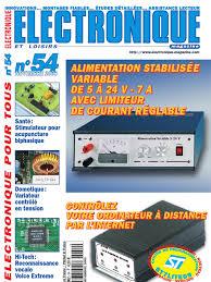 Schema Variateur Lumiere by Electronique Et Loisirs 054 2003 Novembre