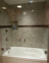 Glass Tub Shower Doors All Glass Shower Doors 4 Foot Shower Door Framed Shower Enclosure