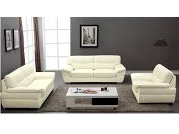 canapé et fauteuil en cuir thibault ivoire ou noir