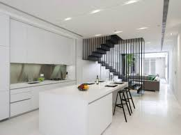 Interior Design White Modern Stylish Open Dining Living Space - Simple and modern interior design