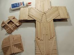 wooden craft crosses popsicle stick cross extract from the big book of crafts by