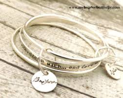 personalized bangle bracelets items similar to two silver and nu gold interlocking bangles soul