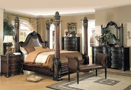 Fine King Canopy Bedroom Sets Brown Cherry Cal Set And Design - Black canopy bedroom sets queen