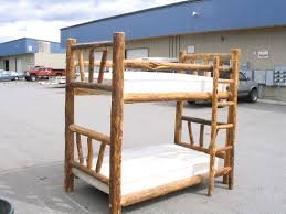 Build Twin Bunk Beds by Log Beds Log Bunk Beds Cedar Log Beds Rustic Log Beds