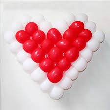 plastic balloons chendongdong heart shaped plastic balloon mesh grid