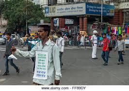 Seeking At Kolkata Kolkata India 11th Feb 2016 A Traffic Officer Gives To A