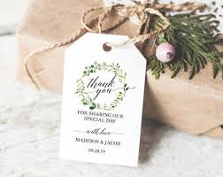 favor tags wedding favor tags etsy