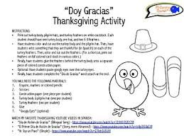 doy gracias thanksgiving activity for students grades k 6