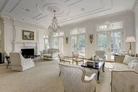 Traditional Living Room With Stone Fireplace  Transom Window In - Ballard designs living room