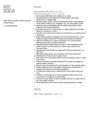 accounts executive resume sample advertising account executive