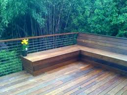 built in deck benches benches on decks build deck bench seating