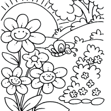 places to find free spring coloring sheets for kids with pages 25