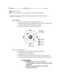 biology class notes 3 2