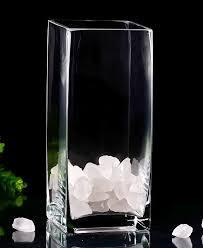 6 Inch Square Vase Small Vases Bulk Glass Bud Vases Wedding Shower Holiday Birthday