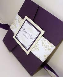 purple wedding invitations pocketfold wedding invitation purple invites mint and