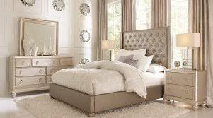 5 pc queen bedroom set sofia vergara paris silver 5 pc queen upholstered bedroom full