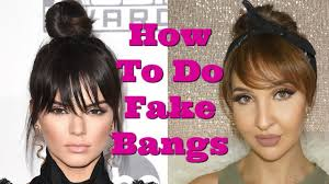 find a hairstyle using your own picture tutorial fake bangs a fake fringe using your own hair kendall